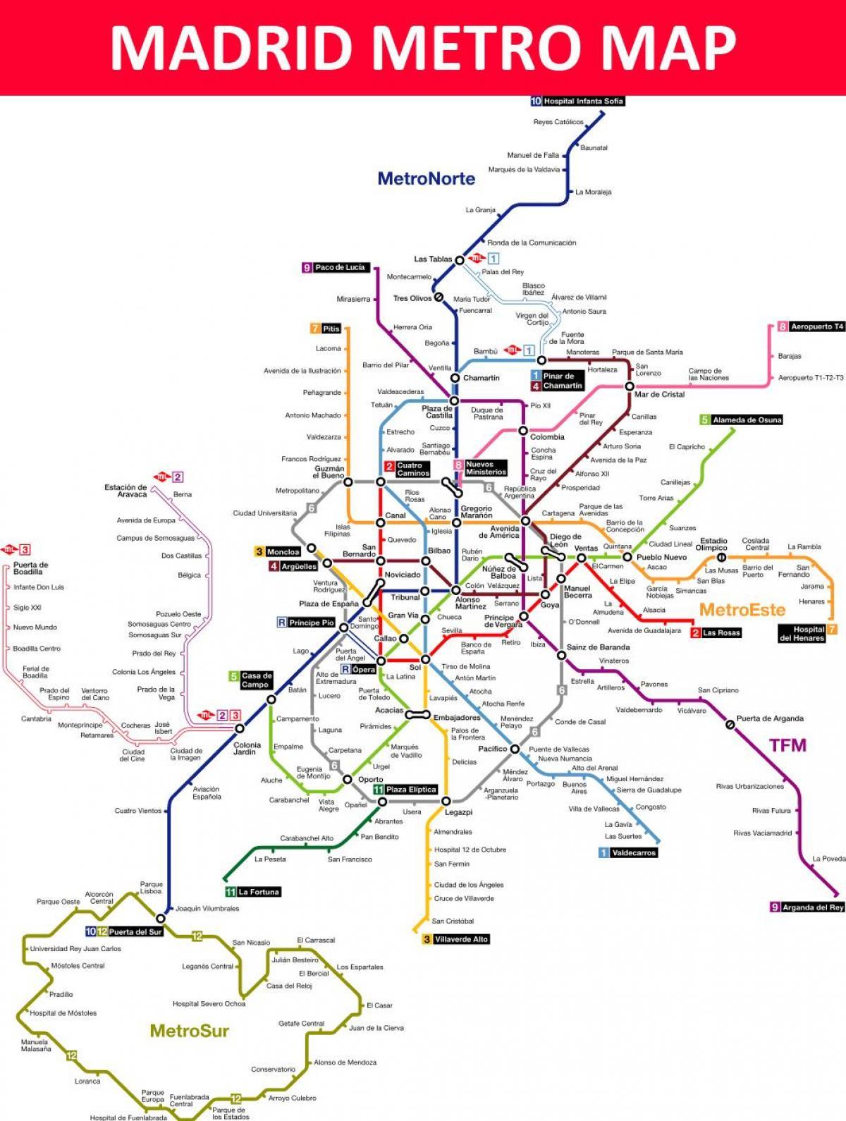 Naples Subway Map.Madrid Subway Map Madrid Spain Metro Map Spain