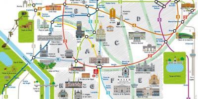 Madrid city tour map - Madrid city map tourist (Spain) on tour map beijing, tour map rome, tour map prague, tour map bangkok, tour map amsterdam, tour map edinburgh, tour map salzburg, tour map new york city, tour map san francisco, tour map boston, tour map lima, tour map london, tour map brussels,